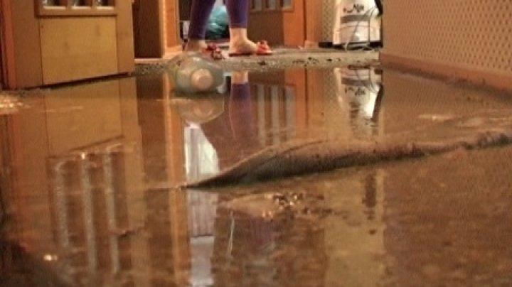 DEZASTRU. La fiecare ploaie, locatarii unui bloc din sectorul Botanica se pomenesc cu apartamentele inundate din cauza unei mansarde