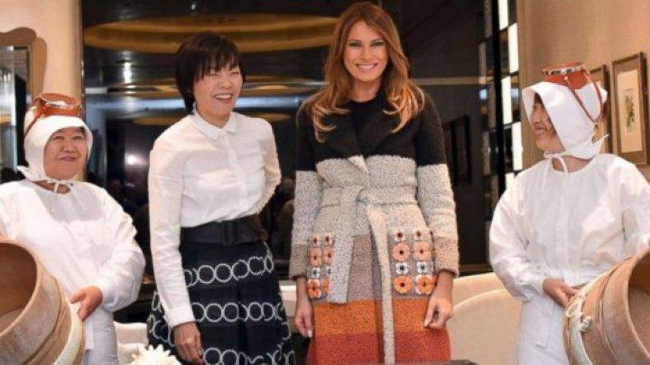Melania Trump împreună la cumpărături cu Prima Doamnă a Japoniei (FOTO)