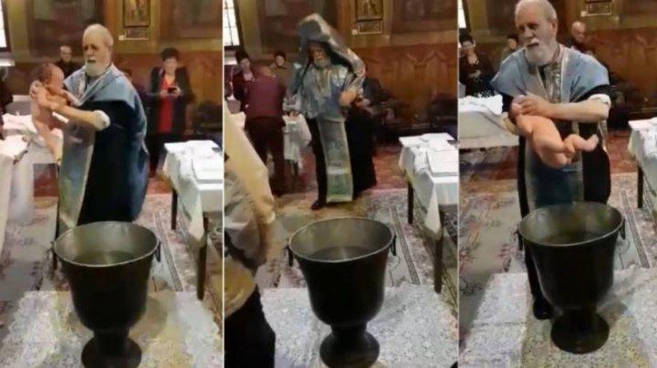 Preotul din Brăila care a bruscat un bebeluș la botez, suspendat