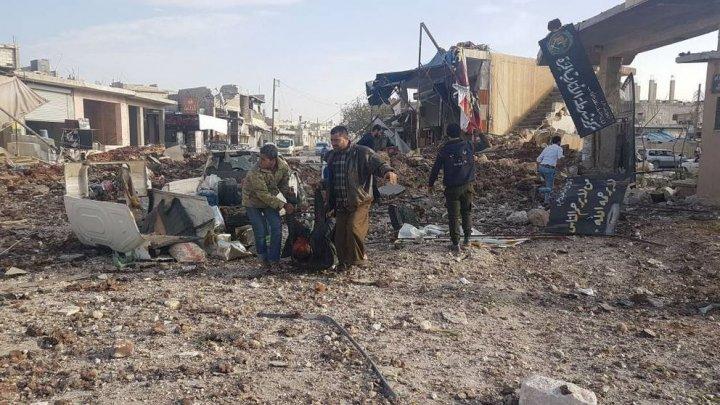 Cel puțin 53 de civili, printre care 21 de copii, au fost uciși în Siria în atacuri ale aviației ruse
