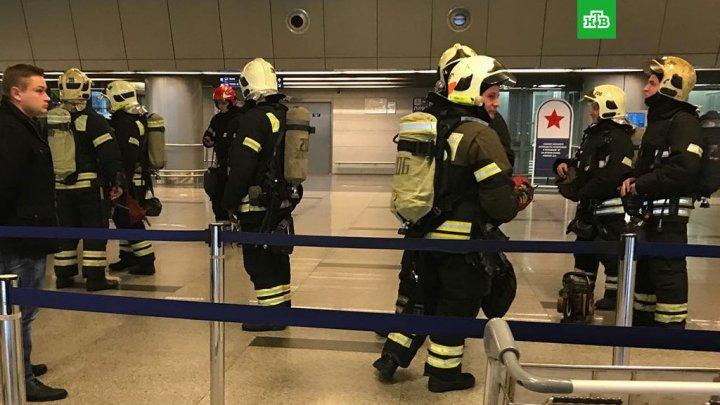 Alertă pe aeroportul Vnukovo! O coloană de fum a fost observată în subsolul unui terminal