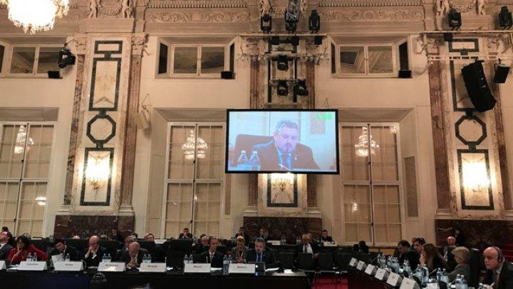 Andrei Galbur a cerut repetat retragerea trupelor ruse,  în discursul său la reuniunea Consiliului Ministerial al OSCE de la Viena