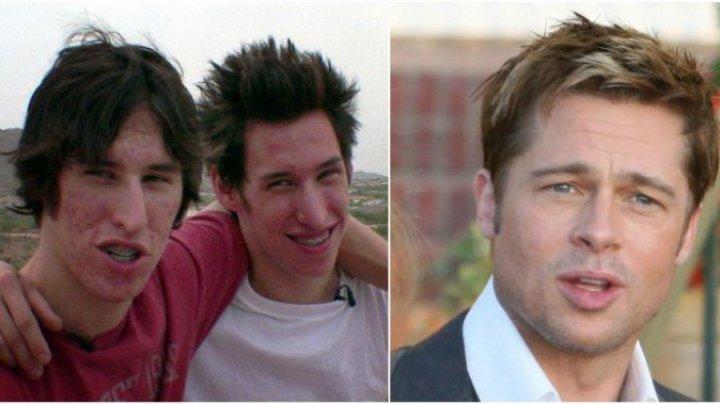 Doi fraţi gemeni şi-au făcut operaţii estetice ca să arate ca Brad Pitt. Câţi dolari au cheltuit