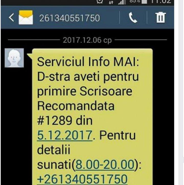 În atenția șoferilor! Mesaje false prin SMS cu scrisori recomandate