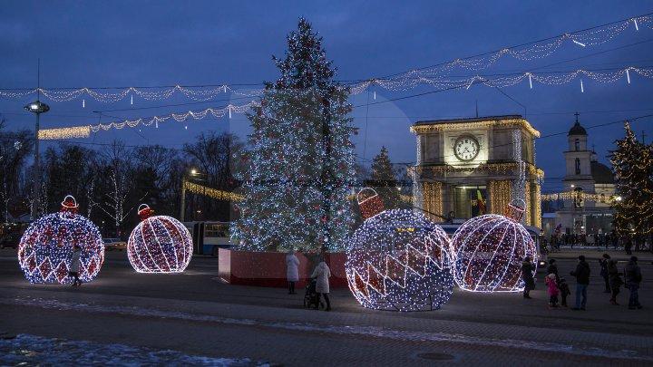 Loc nou pentru făcut poze în PMAN. Un agent economic a donat patru globuri imense cu luminiţe (FOTOREPORT)