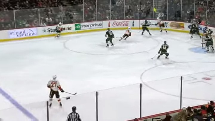 Partida dintre Minnesota Wild și Calgary Flames din Liga Națională de Hochei, marcată de un incident