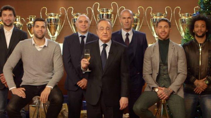 Conducerea, antrenorii și fotbaliștii clubului Real Madrid au venit cu mesaje de felicitare cu ocazia sărbătorilor de iarnă (VIDEO)