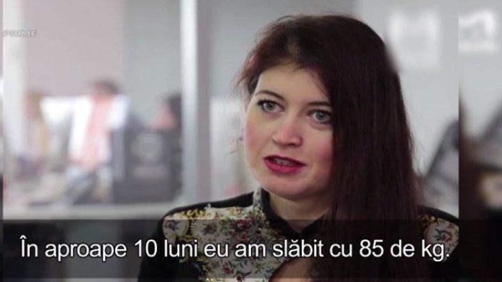 Cum a reuşit o femeie să slăbească 85 de kg în aproape 10 luni (VIDEO)