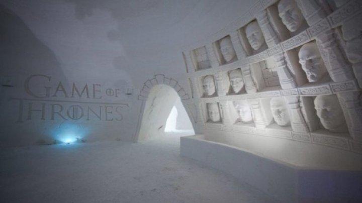 """În Laponia, Finlanda, a fost deschis un hotel din gheață inspirat din """"Game of Thrones"""" (FOTO)"""