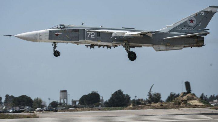 Mai multe avioane de vânătoare ale Rusiei, distruse într-un atac cu mortiere asupra bazei Hmeymim din Siria