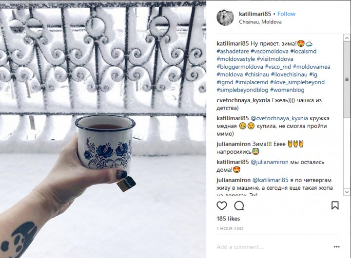 IMAGINI DE POVESTE! Chişinăul în alb, văzut prin filtrele Instagramului (GALERIE FOTO)