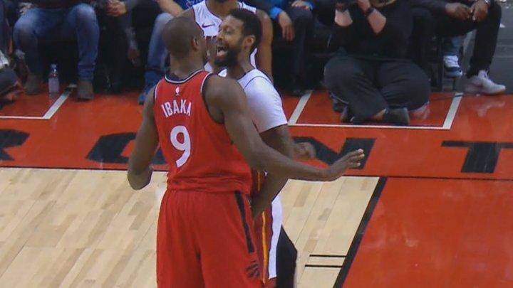 Ibaka şi Johnson şi-au împărţit pumni în timpul meciului dintre Toronto Raptors şi Miami Heat (VIDEO)