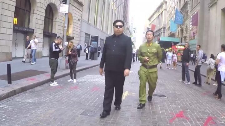 Kim Jong Un pe străzile din New York. Cum au reacţionat trecătorii (VIDEO)