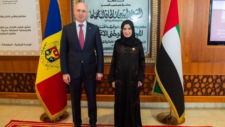 Perspectivele cooperării moldo-emirateze, discutate de premierul Pavel Filip și președintele Consiliului Național Federal al EAU