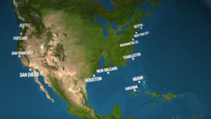 ŞOCANT! Cum ar arăta planeta dacă toată gheața de la poli s-ar topi (VIDEO)