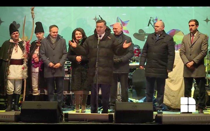 Concertul de Anul Nou pe stil vechi de la Nisporeni. Felicitările din partea reprezentanților guvernului, ai parlamentului şi ai raionului