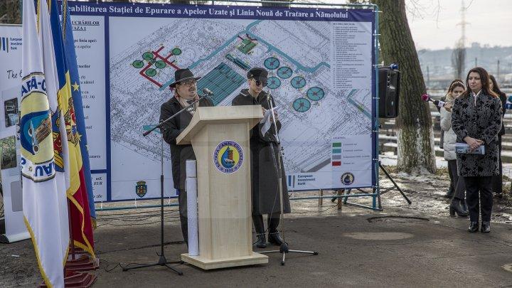 Veste bună pentru locuitorii Capitalei. Au început lucrările de reparație a Staţiei de Epurare a apelor reziduale (FOTOREPORT)
