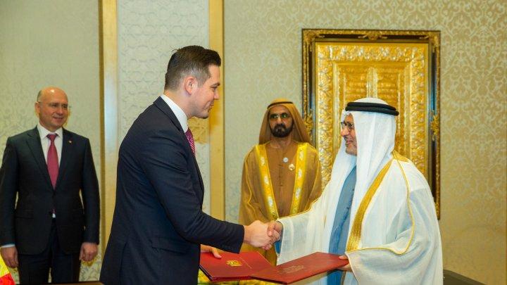 Ministrul Tudor Ulianovschi şi omologul său emiratez au semnat un Memorandum de Înţelegere