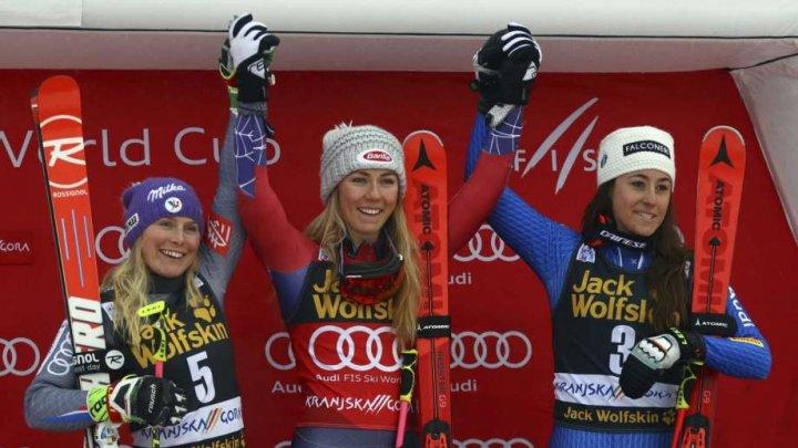 Americanca Mikaela Shiffrin a obţinut a 40-a victorie din carieră