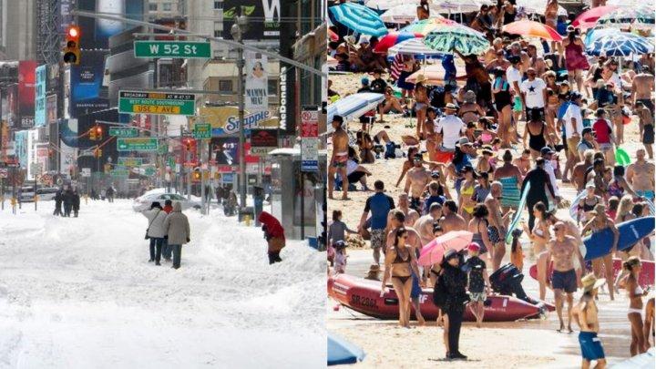 Ziua recordurilor pe glob. Diferențe de 100 de grade Celsius între New York și Sydney