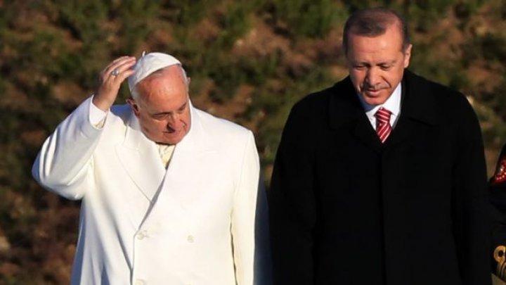 Papa Francisc se va întâlni cu preşedintele Turciei, Recep Tayyip Erdogan, la Vatican