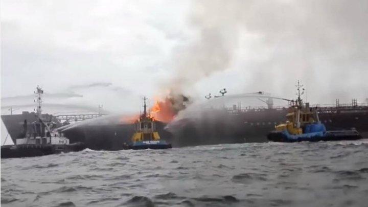 Un petrolier a loc foc în China. 32 de marinari sunt daţi dispăruţi