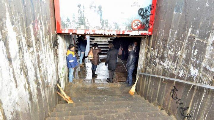 Pasajul subteran de pe Viaduct va fi reparat. Silvia Radu: Pasajele din Chișinău au fost lăsate de izbeliște