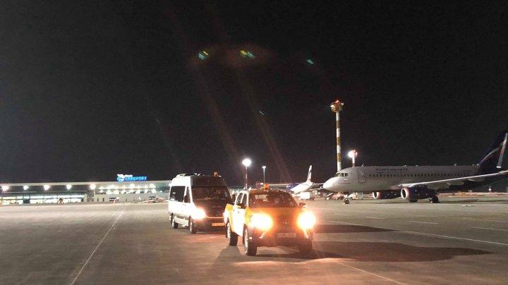 Peronul Aeroportului Internațional Chișinău, dotat cu sistem de iluminat LED