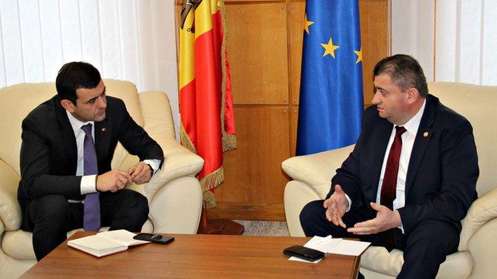 Ministrul Economiei și Infrastructurii, Chiril Gaburici, a avut o întrevedere bilaterală cu omologul său român, Dănuț Andrușcă