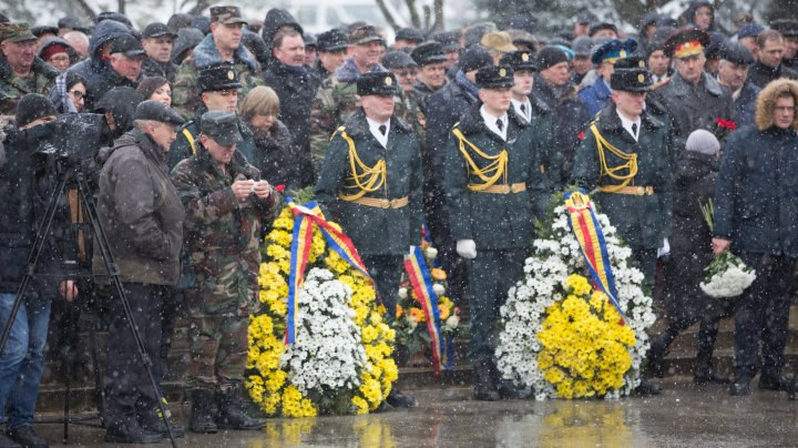 Vicepreședintele Parlamentului Vladimir Vitiuc, la mitingul de comemorare a ostaşilor căzuți în războiul din Afganistan