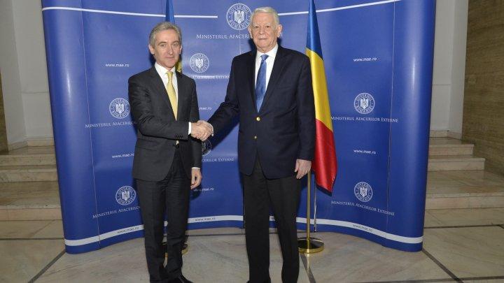 Vicepremierul Iurie Leancă a avut o întrevedere cu ministrul Afacerilor Externe al României, Teodor Meleșcanu