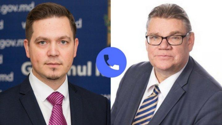 A fost convenită organizarea unei vizite la Chişinău a Ministrului de Externe al Finlandei
