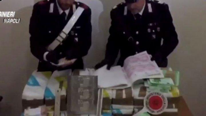 Captură uriașă de bani falși: Poliţiştii au confiscat 41 de milioane de euro