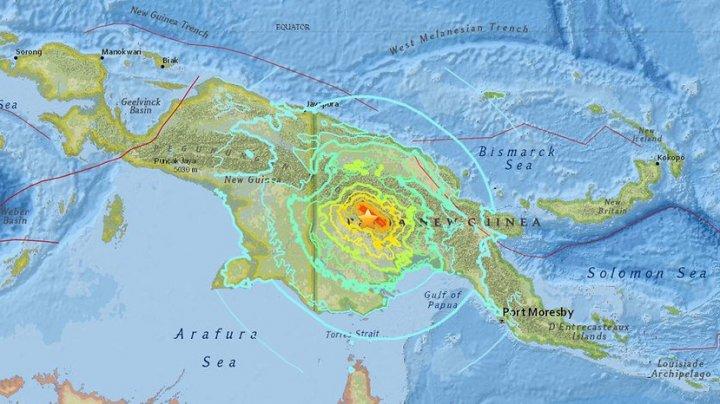 Un cutremur cu magnitudinea de 7,5 a avut loc, duminică, în Papua Noua Guinee