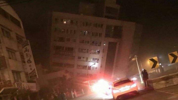 IMAGINI HORROR! Cutremur de 6,4 grade în Taiwan. Un hotel s-a prăbuşit (VIDEO)