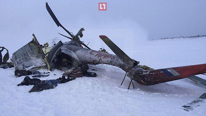 Un nou accident aviatic în Rusia. Un elicopter de tip MI-8, cu şase oameni la bord, a luat foc (FOTO)