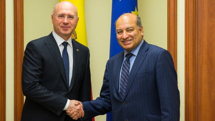 Premierul Pavel Filip și președintele BERD, Suma Chakrabarti au discutat despre proiectele BERD în Republica Moldova