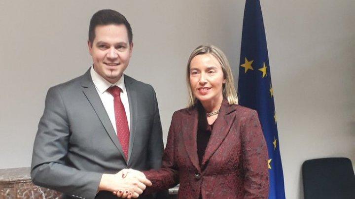 Întrevederea Ministrului Tudor Ulianovschi cu Federica Mogherini, Înaltul Reprezentant al UE pentru Afaceri Externe şi Politica de Securitate