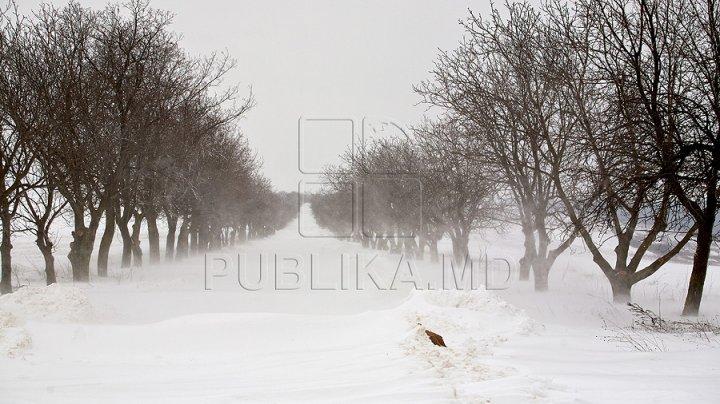 Ninsorile au pus stăpânire pe Moldova. Cum se circulă pe traseele din ţară. Au fost înregistrate 10 accidente rutiere