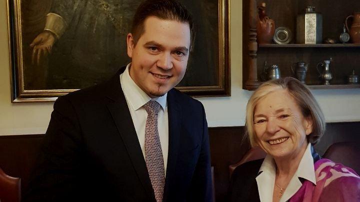 Întrevederea Ministrului Tudor Ulianovschi cu Ursula Mannle, Preşedintele Fundaţiei Hanns Seidel