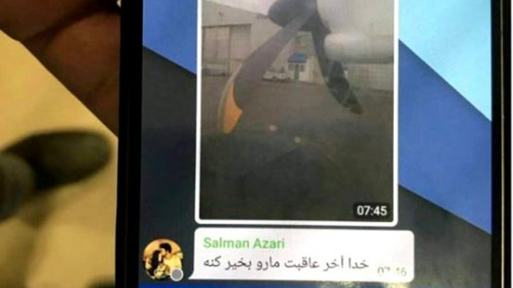 Ultimul mesaj trimis de un pasager al avionului prăbușit în Iran. Ce a scris acesta iubitei sale