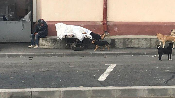 Afacere cu mortul pe căruţ la Piaţa Centrală: VĂ RUGĂM AJUTAŢI-MĂ SĂ-L ÎNGROP (FOTO)