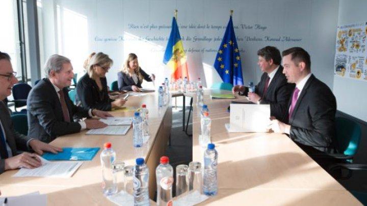 Întrevederea Ministrului Tudor Ulianovschi cu Comisarul Johannes Hahn