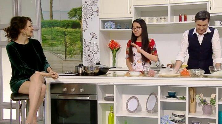 Minh Thu, jurnalista vietnameză de la Publika.MD a gătit mâncare tradiţională de Anului Nou Chinezesc la emisiunea O Nouă Zi