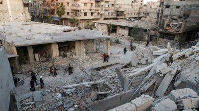 CIVILI, VICTIME ALE RACHETELOR. În Ghouta de Est au murit peste 60 de oameni