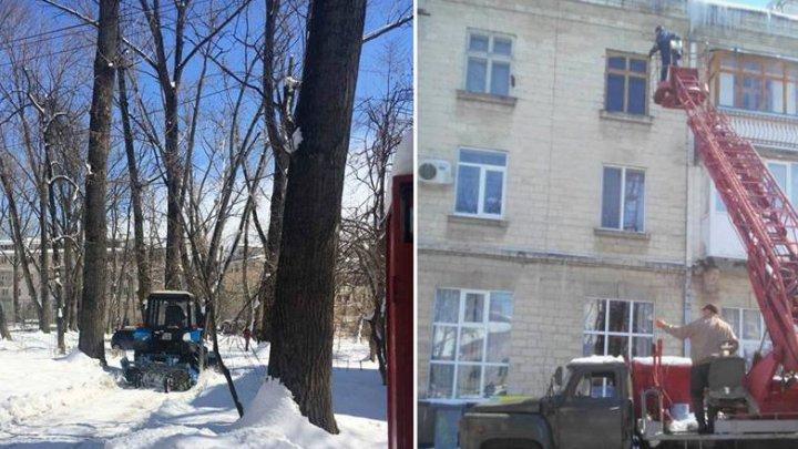 Silvia Radu: Curățăm orașul de zăpadă și de țurțuri. Cei care au nevoie de mașină turn apelați la Dispeceratul Central Municipal