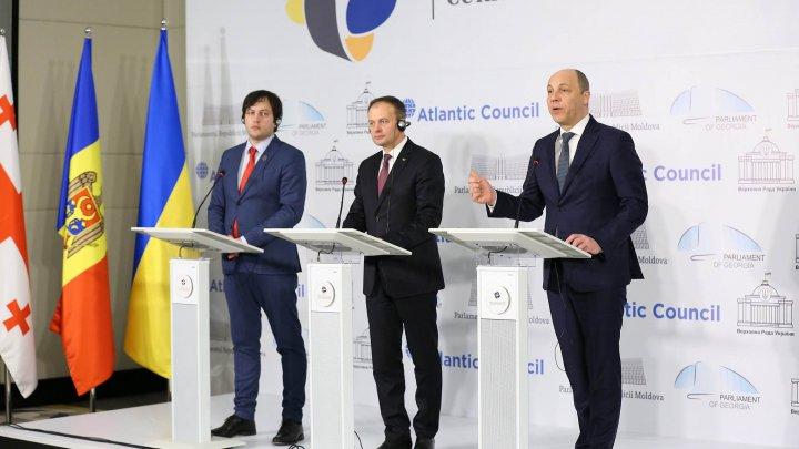 Poziție comună în domeniul apărării și securității, promovată de şefii Legislativelor din Georgia, Moldova și Ucraina