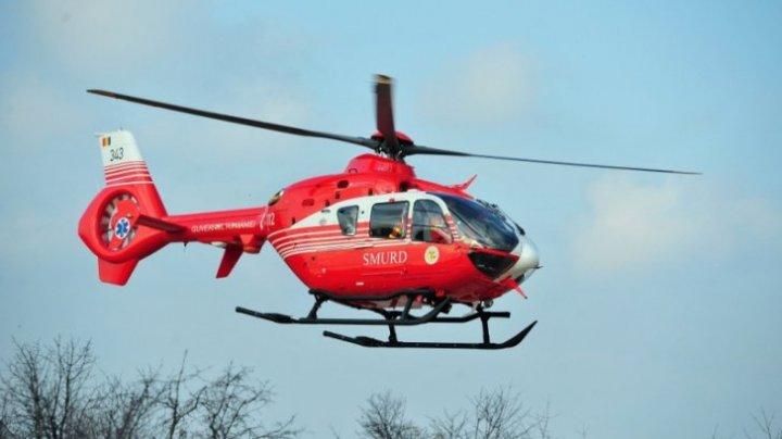 Accident grav în Ploieşti, România. Elicopterul SMURD, intervenție de urgență
