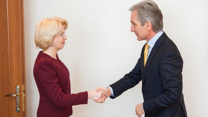 Priorităţile Guvernului în domeniul integrării europene, discutate de Iurie Leancă şi Inara Murniece, președinta Saeima Letoniei