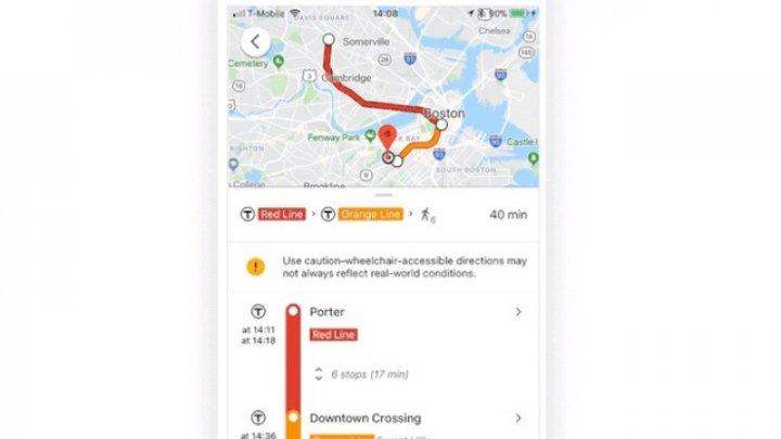 Google Maps a adăugat opţiunea pentru trasarea de rute accesibile persoanelor cu dizabilităţi
